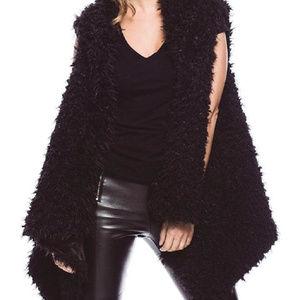 New  Black Faux Fur Vest